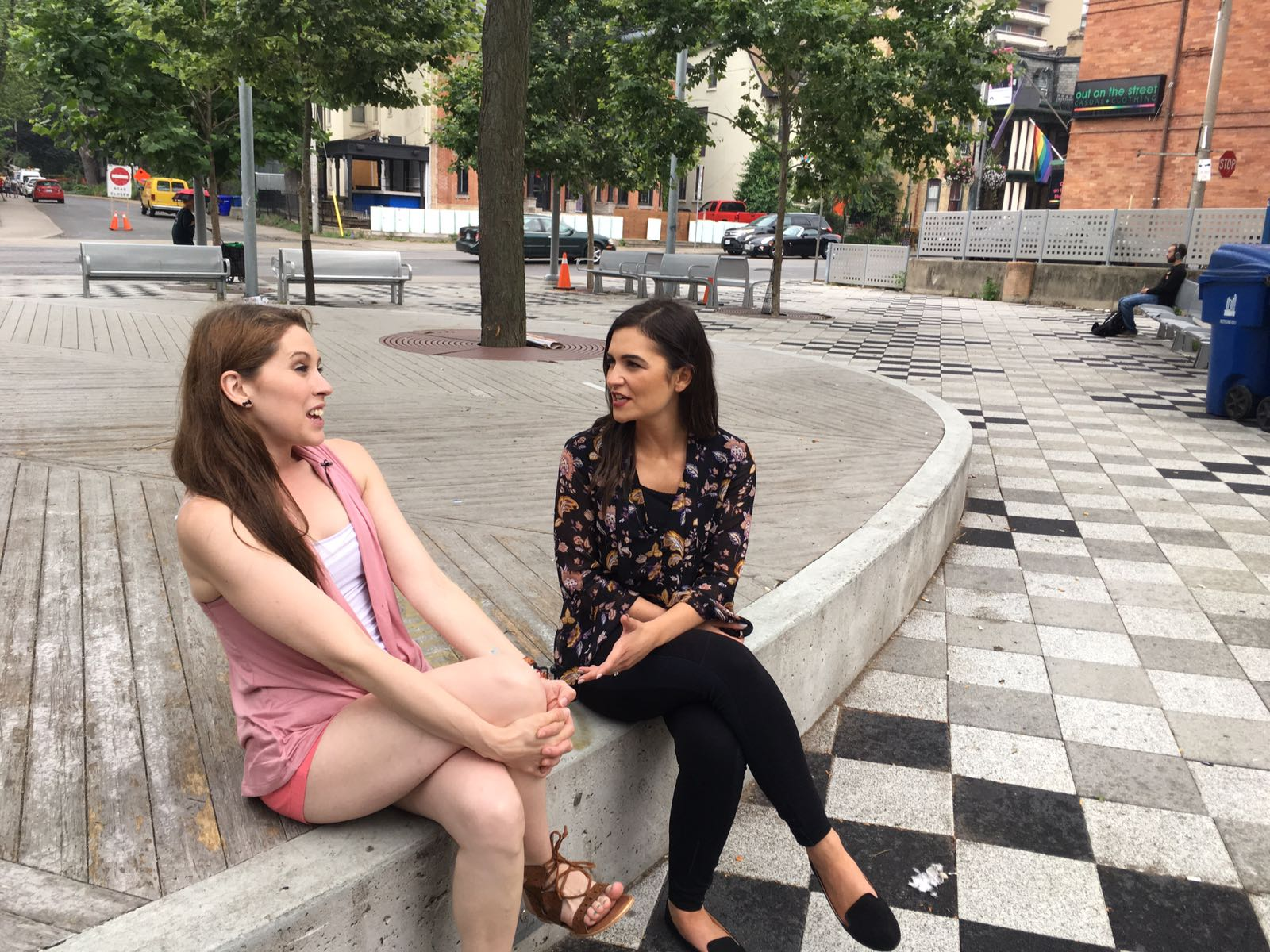 Surrogate Ashley and Companion at City News in Ontario Surrogacy